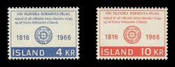 ICELAND Scott #  386-7, 1966 Icelandic Literary Society, 150th Anniversary (Set of 2)