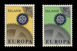 ICELAND Scott #  389-90, 1967 EUROPA Issue (Set of 2)