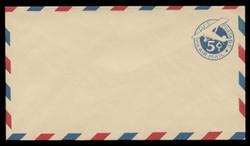 U.S. Scott # UC  1/10, UPSS #AM1/28 1929 5c Blue Plane (Tail Leans), Border Type a/1  - Mint (See Warranty)