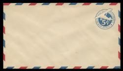U.S. Scott # UC  1/10, UPSS #AM2/30 1929 5c Blue Plane (Tail Leans), Border Type b/2  - Mint (See Warranty)