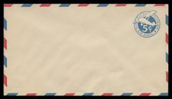 U.S. Scott # UC  2/13, UPSS #AM9/30A 1929 5c Blue Plane (Tail Upright), Border Type b/2  - Mint (See Warranty)
