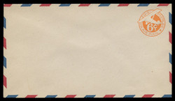 "U.S. Scott # UC  3/13, UPSS #AM14/33 1934 6c Orange Plane, ""6"" = 6 1/2 mm, Border Type b/2  - Mint (See Warranty)"