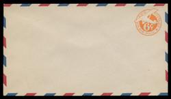 "U.S. Scott # UC  3/13, UPSS #AM14/39 1934 6c Orange Plane, ""6"" = 6 1/2 mm, Border Type b/2  - Mint (See Warranty)"