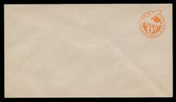 "U.S. Scott # UC  3N/13, UPSS #AM15/39 1944 6c Orange Plane, ""6"" = 6 1/2 mm, No Border  - Mint (See Warranty)"