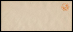 "U.S. Scott # UC  3N/23, UPSS #AM17/41 1944 6c Orange Plane, ""6"" = 6 1/2 mm, No Border  - Mint (See Warranty)"
