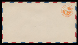 "U.S. Scott # UC  4/13, UPSS #AM18/39 1942 6c Orange Plane, ""6"" = 6 mm, Border Type b/2  - Mint (See Warranty)"
