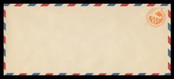 "U.S. Scott # UC  4/23, UPSS #AM20/39 1942 6c Orange Plane, ""6"" = 6 mm, Border Type d/4  - Mint (See Warranty)"