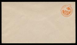 "U.S. Scott # UC  4N/13, UPSS #AM19/41 1944 6c Orange Plane, ""6"" = 6 mm, No Border  - Mint (See Warranty)"