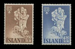 ICELAND Scott #  325-6, 1960 World Refugee Year (Set of 2)