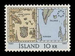 ICELAND Scott #  391, 1967 EXPO '67, Montreal - Maps