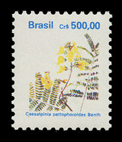 BRAZIL Scott # 2268, 1991 500cr Caesalpinia peltophoroides Benth