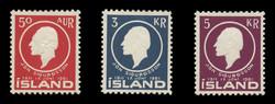 ICELAND Scott #  335-7, 1961 Jon Sigurdsson, Statesman and Scholar (Set of 3)