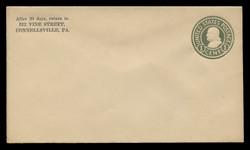U.S. Scott # U 420b/08, UPSS #2029/27 1915-32 1c Franklin, green on white, Die 3 - Mint (See Warranty)