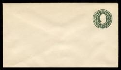 U.S. Scott # U 420c/10, UPSS #2037/24 1915-32 1c Franklin, green on white, Die 4 - Mint (See Warranty)