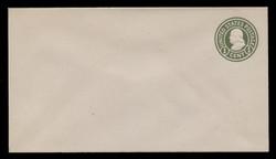U.S. Scott # U 420d/10, UPSS #2044/38 1915-32 1c Franklin, green on white, Die 5 - Mint (See Warranty)