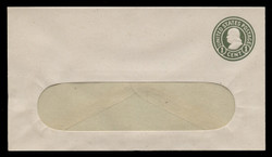 U.S. Scott # U 420d/10-WINDOW, UPSS #2047/39 1915-32 1c Franklin, green on white, Die 5 - Mint (See Warranty)
