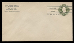 U.S. Scott # U 420d/13PR, UPSS #2048a/43 1915-32 1c Franklin, green on white, Die 5, PRECANCELLED - Mint (See Warranty)