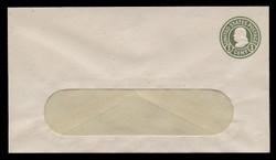 U.S. Scott # U 420d/13-WINDOW, UPSS #2052/39 1915-32 1c Franklin, green on white, Die 5 - Mint (See Warranty)