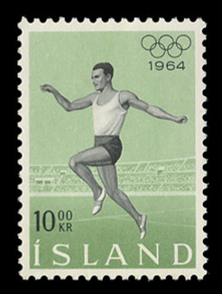ICELAND Scott #  369, 1964 18th Olympic Games, Tokyo