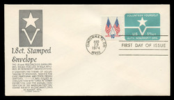 U.S. Scott #U568 1.8c Non-Profit Organization Envelope First Day Cover.  Anderson cachet, BLACK variety.
