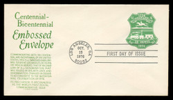 U.S. Scott #U582 13c Bicentennial Envelope First Day Cover.  Anderson cachet, GREEN variety.