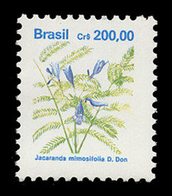 BRAZIL Scott # 2267, 1991 200cr Jacaranda mimosifolia D. Don