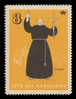 Associated Oil Company Poster Stamps of 1938-9 - #  8, The Padre