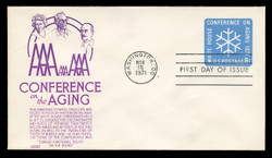 U.S. Scott #U564 8c Conference on the Aging Envelope First Day Cover.  Anderson cachet, PURPLE variety.