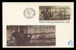 U.S. Scott #UX85 10c Battle of Kings Mountain Postal Card First Day Cover.  Andrews cachet.