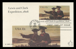 U.S. Scott #UX91 12c Lewis & Clark Expedition Postal Card First Day Cover.  Andrews cachet.
