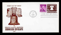 U.S. Scott #U547 1¼c Liberty Bell Envelope First Day Cover.  Centennial cachet.