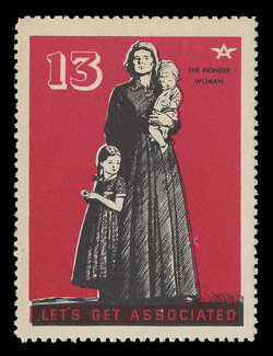 Associated Oil Company Poster Stamps of 1938-9 - # 13, The Pioneer Woman