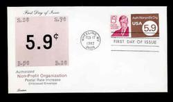 U.S. Scott #U591 5.9c Non-Profit Envelope First Day Cover.  Lorstan cachet.