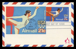 U.S. Scott #UXC18 21c 1980 Summer Olympics Airmail Postal Card First Day Cover.  Andrews cachet.