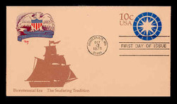 U.S. Scott #U571 11c Bicentennial - Seafaring Tradition Envelope First Day Cover.  MARG cachet.