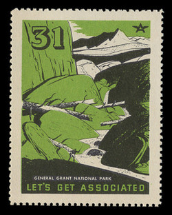 Associated Oil Company Poster Stamps of 1938-9 - # 31, General Grant National Park