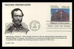 U.S. Scott #UX 97 13c Old St. Louis P.O. Postal Card First Day Cover.  KMC Venture cachet.