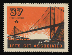 Associated Oil Company Poster Stamps of 1938-9 - # 37 Golden Gate Bridge