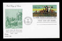 U.S. Scott #UX 95 13c LaSalle/Louisiana Postal Card First Day Cover.  Lorstan cachet.