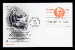 U.S. Scott #UY29 (10c) Paul Revere Reply Card First Day Cover.  Artcraft cachet.