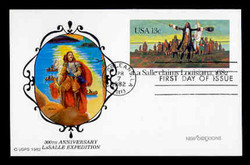 U.S. Scott #UX 95 13c LaSalle/Louisiana Postal Card First Day Cover.  New Direxions cachet.