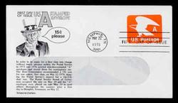 "U.S. Scott #U580 (15c) ""A"" Eagle WINDOW Envelope First Day Cover.  Aristocrat cachet."