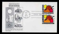 U.S. Scott #U585 13c Energy Decelopment Envelope First Day Cover, COMBO with Sc. #1723.  Aristocrat cachet.