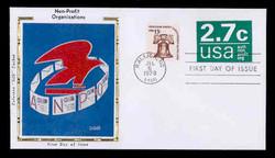 U.S. Scott #U579 2.7c Non-Profit Organization Envelope First Day Cover.  Colorano cachet.