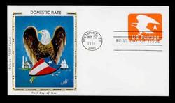 "U.S. Scott #U580 (15c) ""A"" Eagle Envelope First Day Cover.  Colorano cachet."