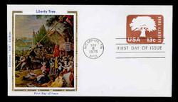 U.S. Scott #U576 13c Liberty Tree Envelope First Day Cover.  Colorano cachet.