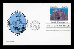U.S. Scott #UX 97 13c Old St. Louis P.O. Postal Card First Day Cover.  New Direxions cachet.