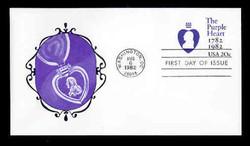 U.S. Scott #U603 20c Purple Heart Envelope First Day Cover.  New Direxions cachet.