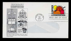 U.S. Scott #U584 13c Energy Conservation WINDOW Envelope First Day Cover.  Aristrcrat cachet.