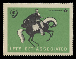 Associated Oil Company Poster Stamps of 1938-9 - #  9, The Spanish Don